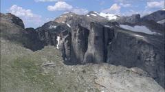 Lizard Peak In Wind River Mountains Stock Footage