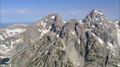 The Teton Range Stock Footage
