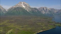 Jackson Lake In Grand Teton National Park Stock Footage
