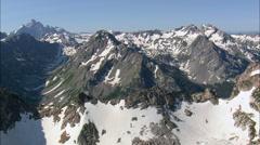 Crossing The Teton Range Stock Footage