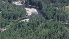 Confluence Of East And West Forks Of Bitterroot River Stock Footage