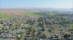 Deerlodge aerial Stock Footage