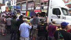 Toronto's 36th Annual Pride Parade 2016 Stock Footage