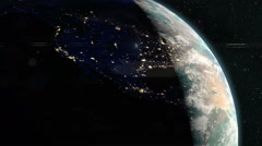 Planet Earth - Dawn Breaks Over America Stock Footage