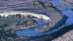 North Platte River At Sunset Stock Footage