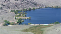 Crystal Lake Reservoir Stock Footage