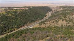 Interstate 80 Dropping Down Towards Laramie Stock Footage