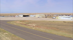 Landing At Laramie Airport Stock Footage