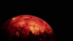 Approaching to Planet Mars in Outer Space Stock Footage