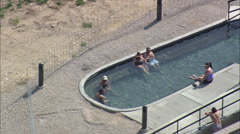 Saratoga Swimming Pool And Hot Springs Stock Footage