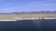 Sand Dunes Around Seminoe Reservoir Stock Footage