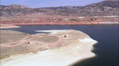 North End Of Seminoe Reservoir Stock Footage