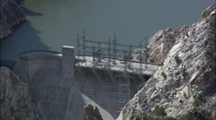 Kortes Reservoir And Canyon Stock Footage
