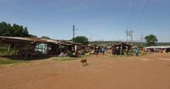 African local market walk in pov 4K Stock Footage