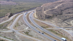Road And Rail Converging On Rock Springs Stock Footage
