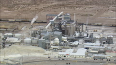 Trona Mining Plant Two Stock Footage