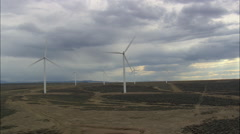 Passing Through A Wind Farm Stock Footage