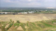 Lander aerial Stock Footage