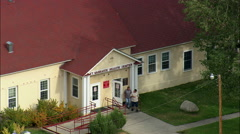 Fort Washakie Tribal Hq Stock Footage