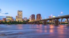 Richmond, Virginia Skyline Stock Footage