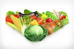Cabbage, harvest juicy and ripe vegetables vector illustration Stock Illustration