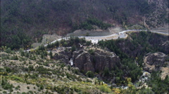 Route 14 Through Shell Canyon Stock Footage
