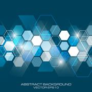Abstract vector future business background with hexagonal pattern. Stock Illustration