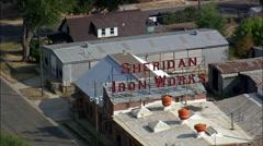 Sheridan aerial Stock Footage