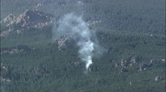 Small Isolated Forest Fires In Bighorn National Forest Stock Footage