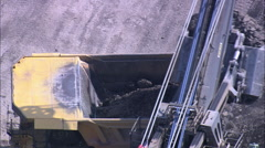 Digger And Two Trucks Stock Footage