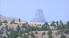 The Devil's Tower National Monument Stock Footage