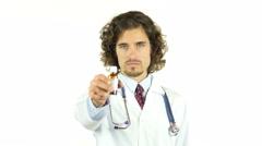 Doctor giving a medicine , medication ,prescription Stock Footage