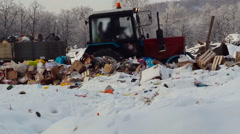 Tractor Carrying the Garbage to the Damping Ground Stock Footage