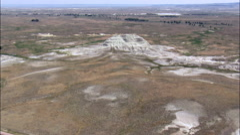 Flight Over Butte In Oglala National Grassland Stock Footage