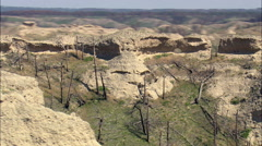 Unusual Rock Formation On Promontory Stock Footage