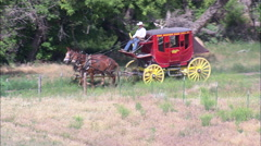 Stage Coach At Fort Robinson Stock Footage