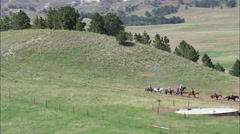 Pony Trekking At Fort Robinson Stock Footage