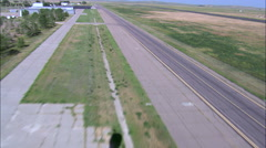 Landing At Alliance Airport And Helicopter Shadow Stock Footage