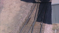 Freight Train Approaching Alliance Yards Stock Footage