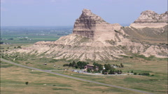 Scotts Bluff National Monument Stock Footage