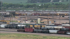 Freight Yard Movement Stock Footage