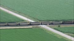 Freight Train Approaching Kearney Stock Footage