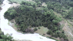 Platte River And Site Of Old Trail Routes Stock Footage