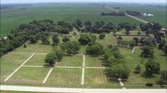 Stockade aerial Stock Footage