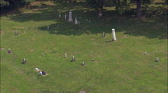 St Deroin Cemetery And Site Of Ghost Town Stock Footage