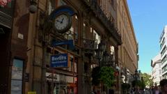 Vaci utca street in Budapest. Stock Footage