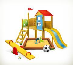 Playground, vector illustration Stock Illustration