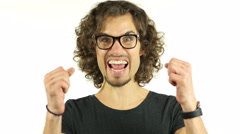 Winner, Excitement of Success, Joyous Man - stock footage
