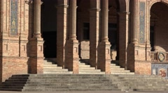 Columns And Stairs Of Palace Or Library Stock Footage