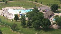 Aquatic Centre In Mahoney State Park Stock Footage